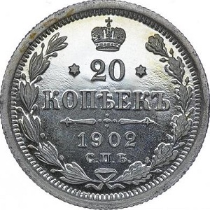 20 копеек 1902 номинал